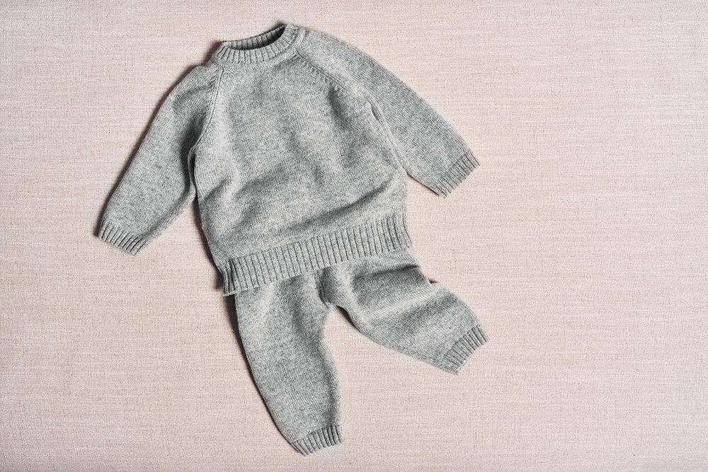 the neel cashmere travel suit