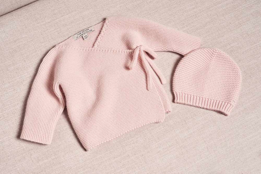 the maeve cashmere cardigan and hat