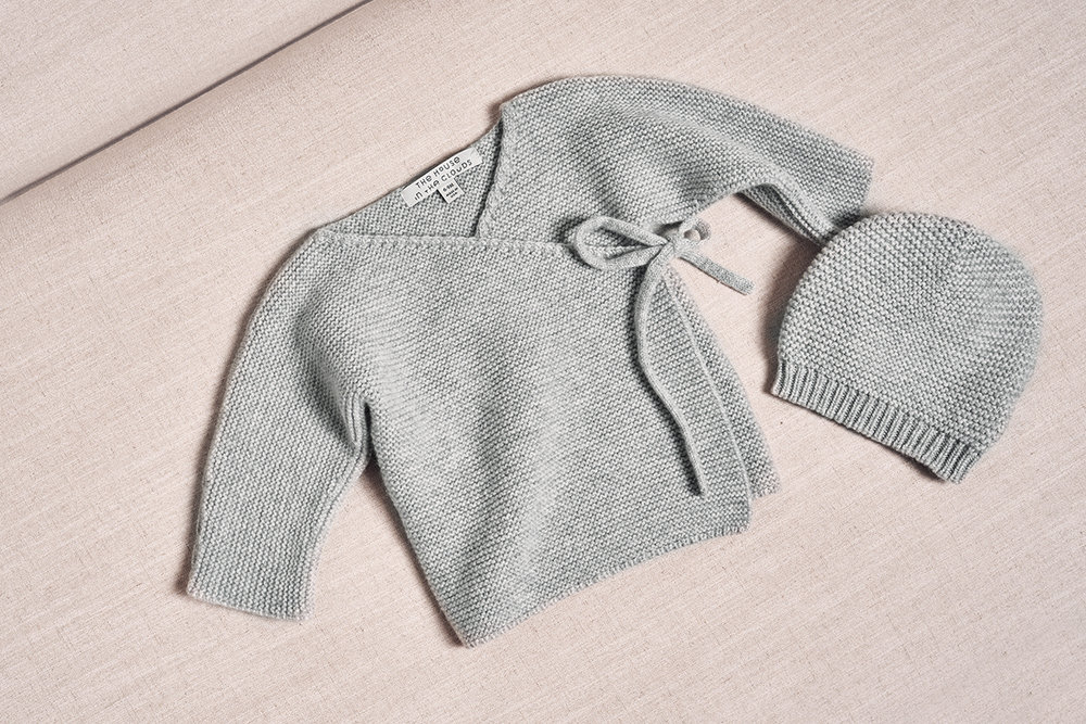 THE MAEVE CARDIGAN IN MORNING GREY