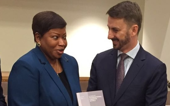 With Ms Fatou Bensouda, ICC Prosecutor