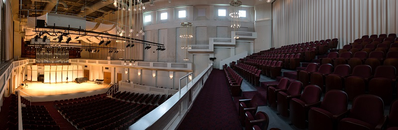 Inside the Herbert and Nicole Wertheim Performing Arts Center Concert Hall where the November 9th event will be held.