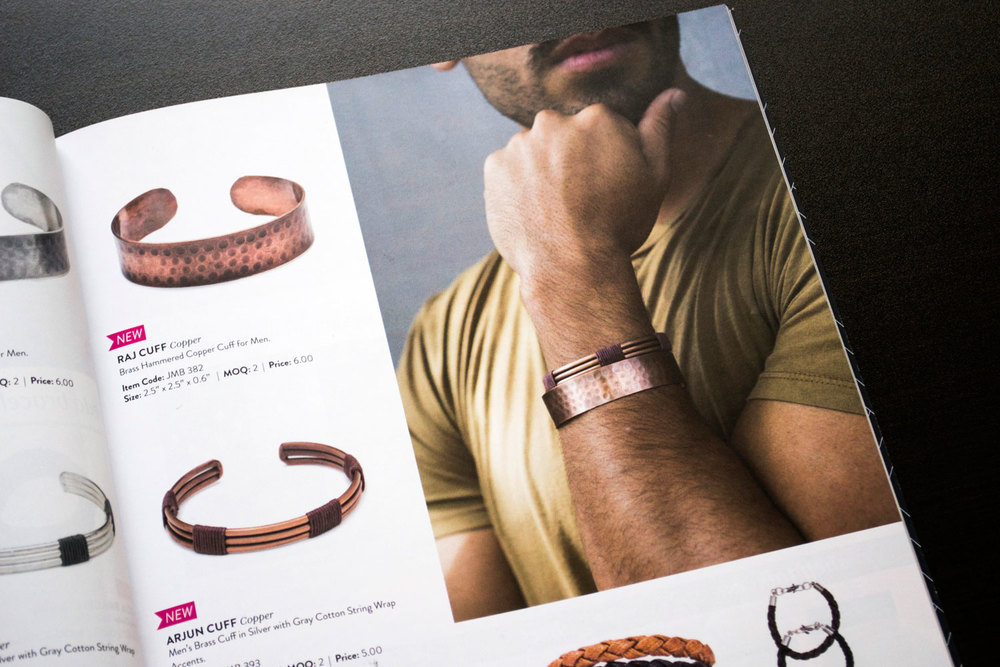 A look at the men's cuff collection in the July 2016 catalogue