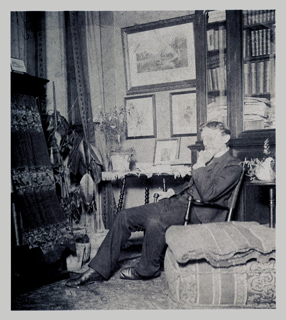Unknown, Elliott Daingerfield in his Library, Undated. Gelatin silver print. Morris Museum of Art, Augusta, Georgia.