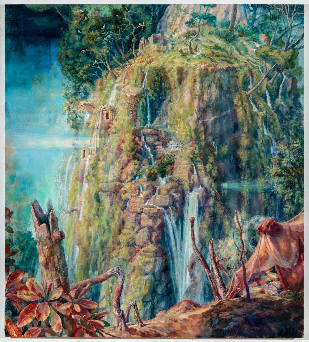 Julie Heffernan, Requiem for Palmyra ,2016,oil on canvas,Courtesy of Catharine Clark Gallery