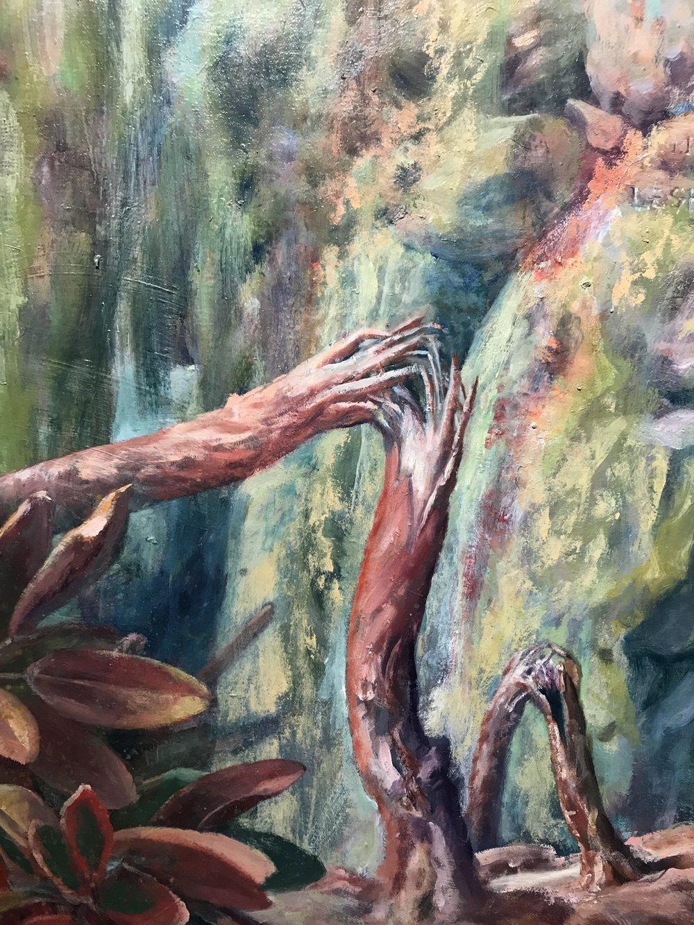 Julie Heffernan, Requiem for Palmyra  (detail),2016,oil on canvas,Courtesy of Catharine Clark Gallery