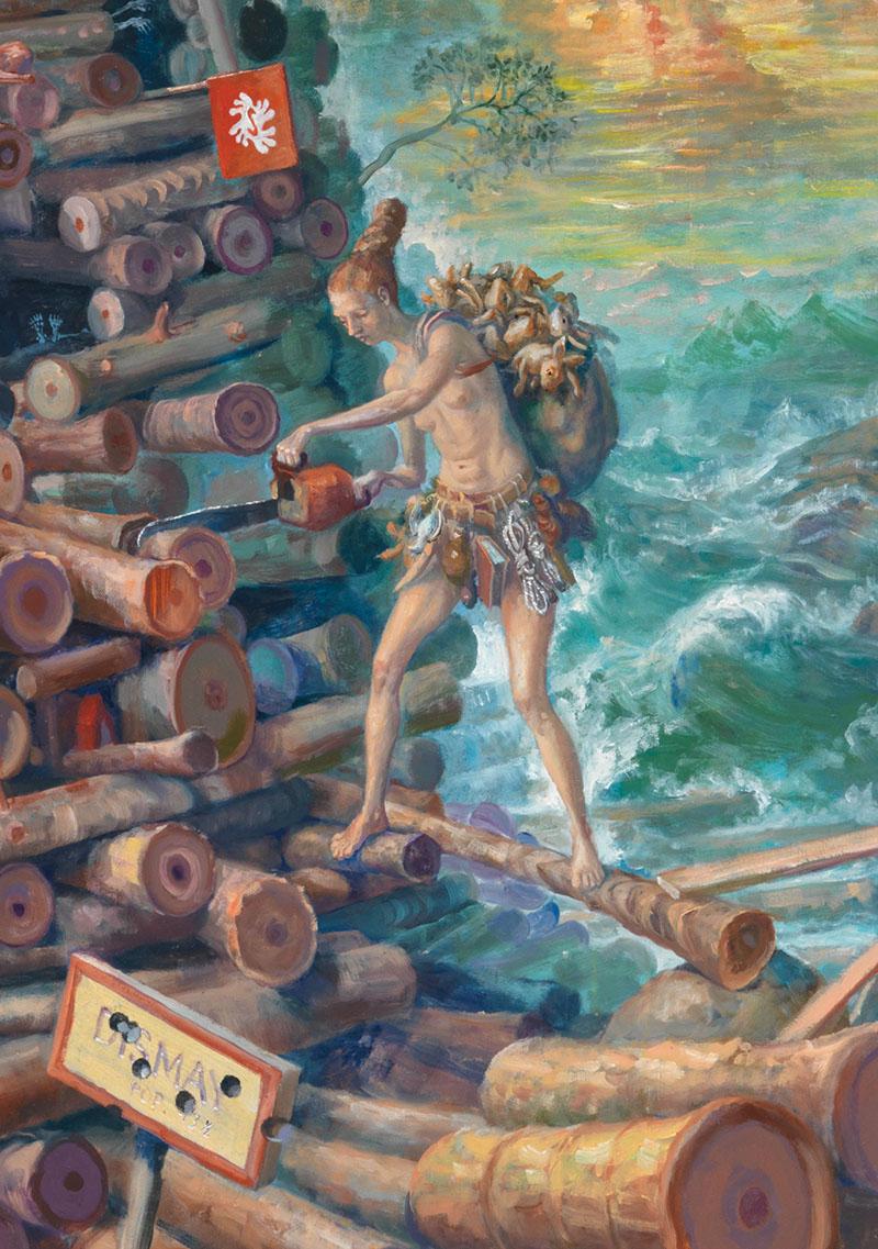 Self Portrait as Emergency Shipwright  (detail)