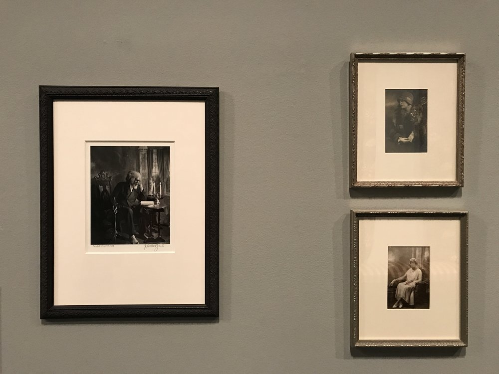Silver gelatin prints by James Van Der Zee. Left: Barefoot Prophet, 1929. Top right: Untitled, 1927. Bottom right: Untitled, 1931. All images from the Myrna Colley-Lee Collection.