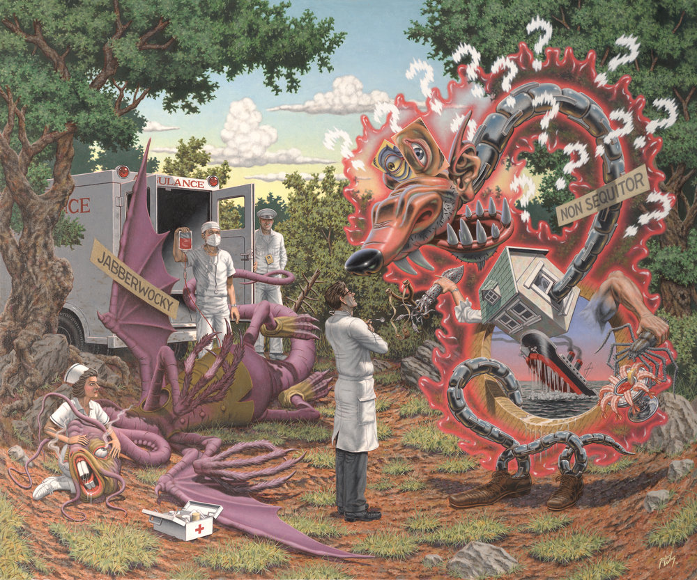Robert Williams (American, born 1943),  Death by Exasperation , 2010, oil on canvas