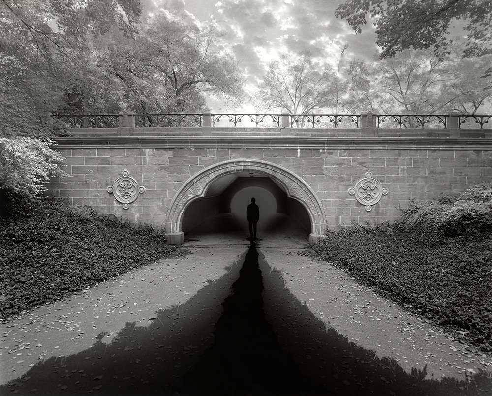 Jerry Uelsmann (American, born 1934),  Now , 2013, gelatin silver print, On loan from the University  Gallery, University of Florida, and the artist