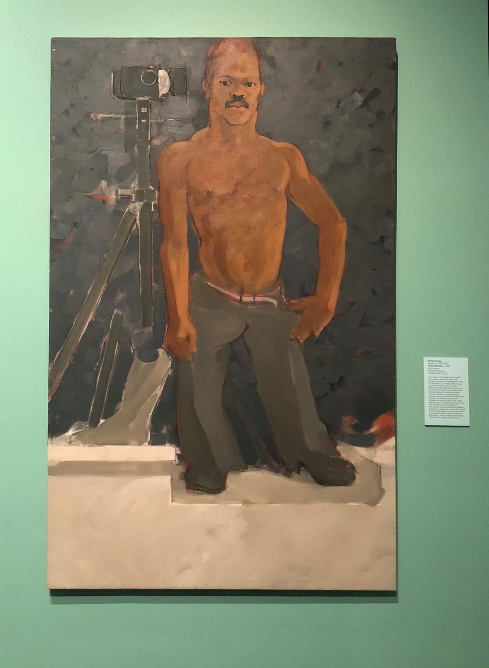 George Dureau (American, 1930–2014),  Dexter Edwards,  c. 1989, oil on canvas, Gift of Don Dureau, LSUMOA L2017.15.4