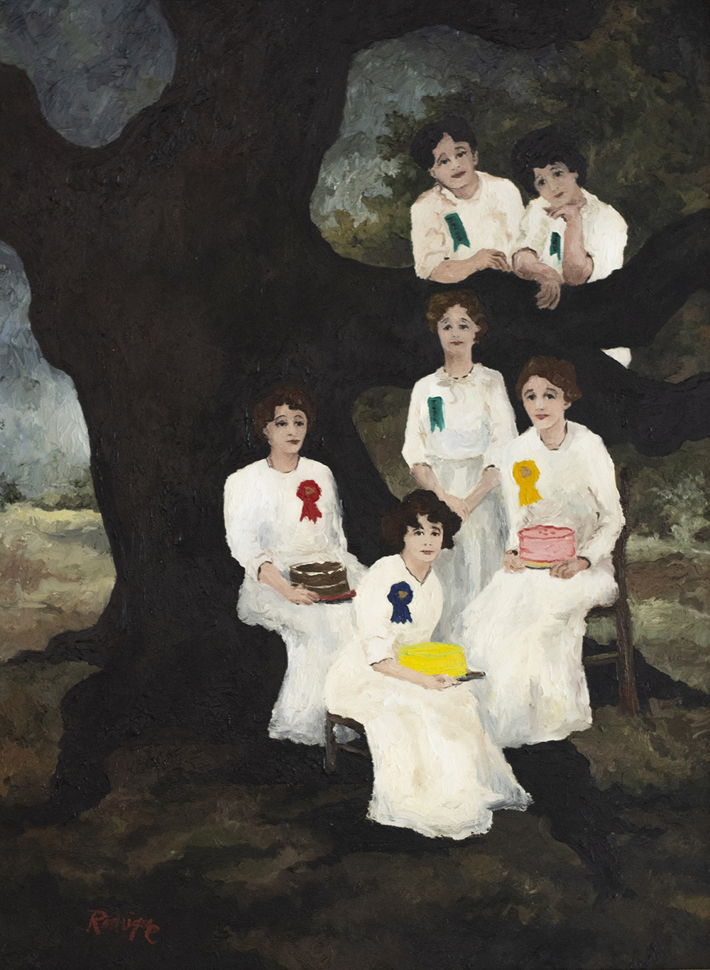 George Rodrigue (American, 1944–2013),  Winning Cakes,  1978, oil on canvas, Courtesy of Paul and Lulu Hilliard University Art Museum, University of Louisiana Lafayette