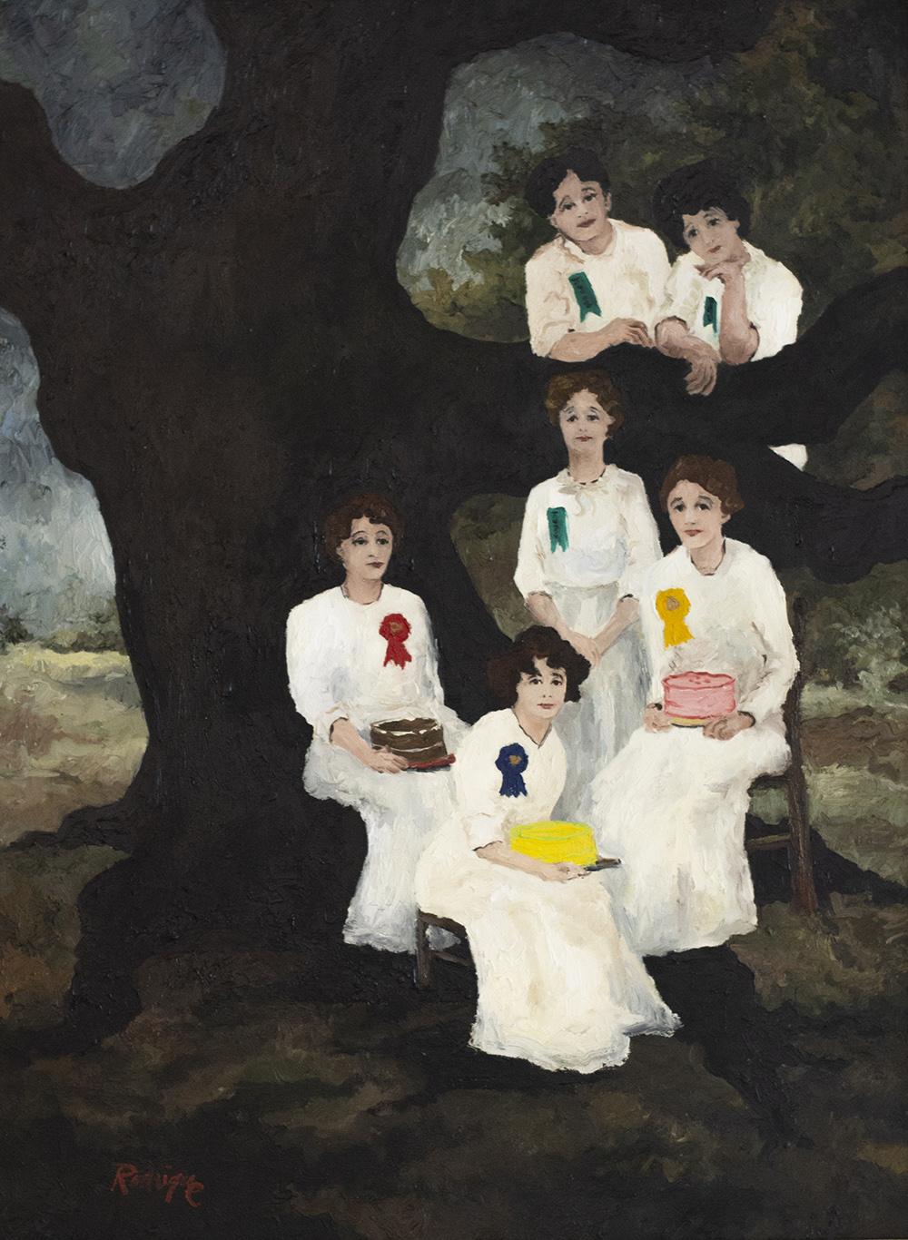 George Rodrigue (American, 1944–2013),  Winning Cakes,  1978, oil on canvas, Courtesy of Paul and Lulu Hilliard University Art Museum, University of Louisiana Lafayette