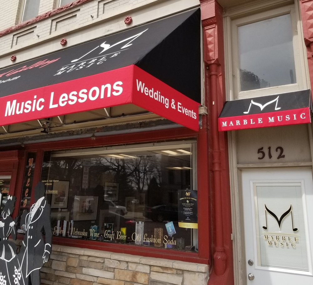 Contact - 514 Seward StreetSeward, Nebraska 68434United States Monday - Thursday: 3 - 8 p.m.Friday - Sunday: By appointment only T: 402 - 646 - 8509E: marblemusicseward@gmail.com