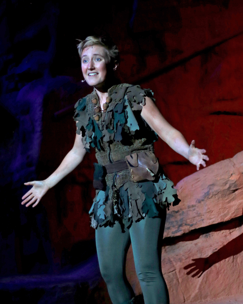 Photo Taken By The Spectrum.   Actor Em Grosland as Peter Pan.