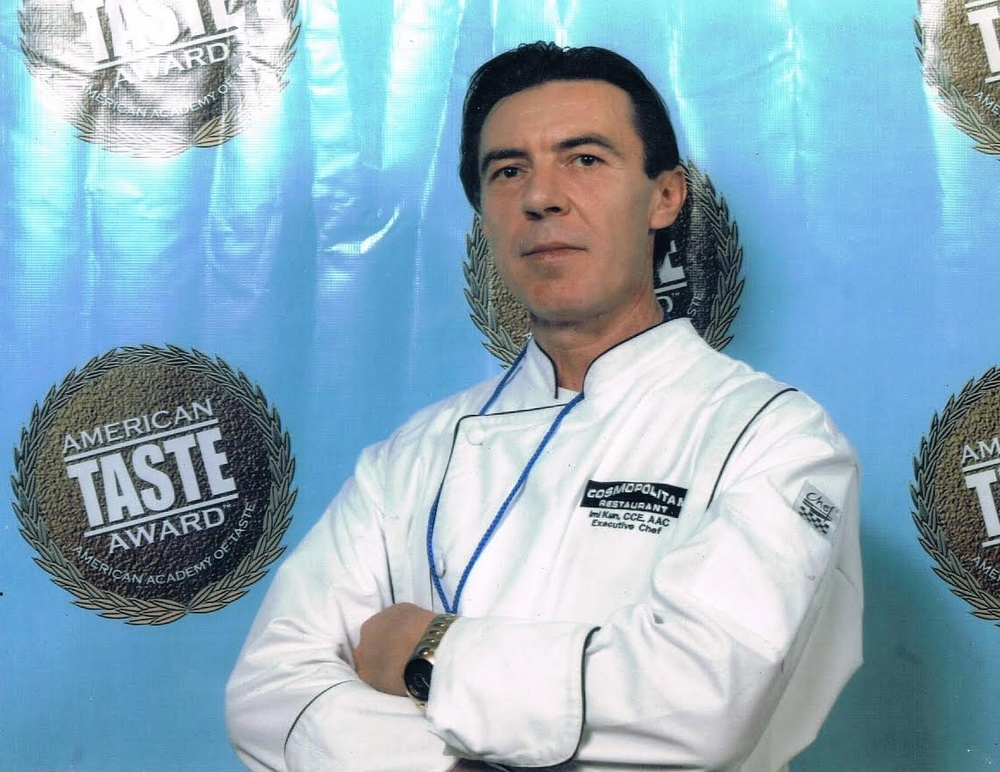 AAC. HCA. FIC. Executive Chef, Chaine Des Rôtisseurs; Maitre de Table Restaurateur Taste of America Award Winner- Grand Master of Taste 2008 Gold Achievement Award for the Best 50+ Dining or Cafe Experience among all active adult communities in America.