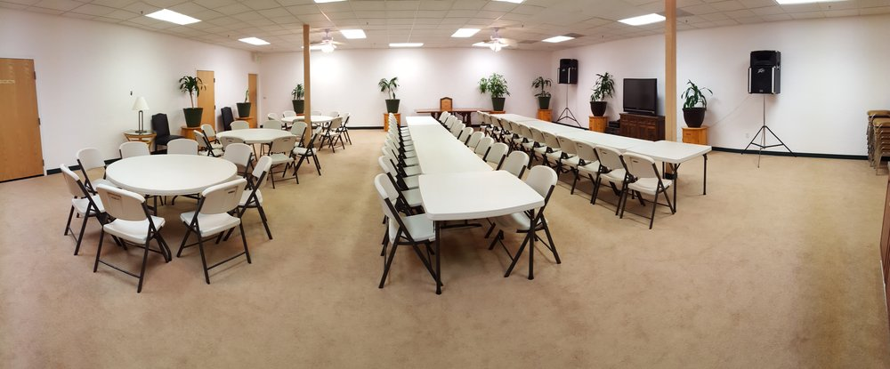 We also have a massive (40' x 40') multipurpose room that can accommodate over 60 guests.