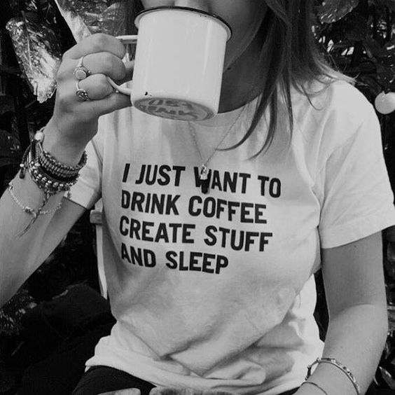 "This chick might be my spirit animal, minus the coffee, insert ""tea""."
