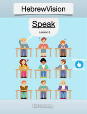 Speak HebrewVision Speak is the sixth lesson from a new interactive language-learning series that teaches you Modern Hebrew. This innovative tool teaches you to speak common phrases in Hebrew through video demonstrations. After learning all of the material, readers can then quiz their skills at the end. HebrewVision Speak was created for all ages. It is a fun and easy way to get you started in your introduction to Modern Hebrew. https://itunes.apple.com/us/book/hebrewvision-speak/id1146629495?mt=11
