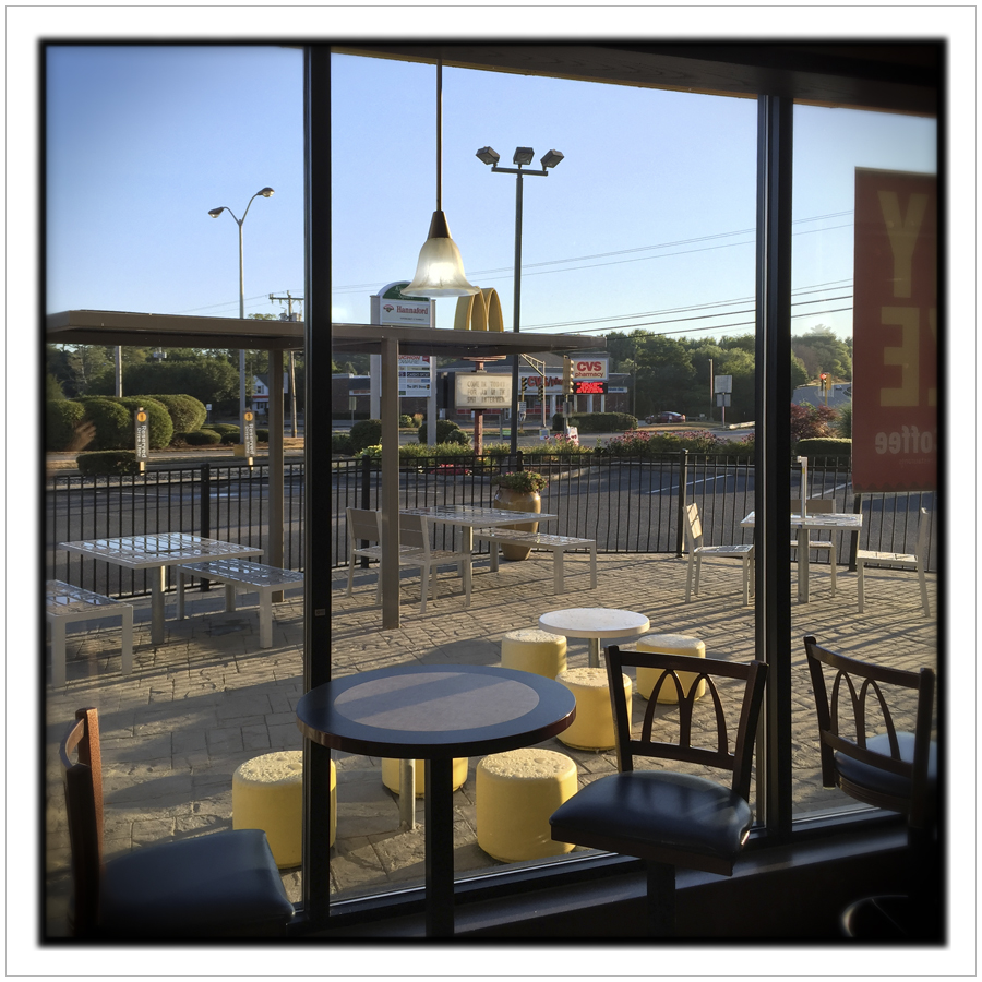 McDonalds window @ 6:15AM   ~ Duxbury, MA.