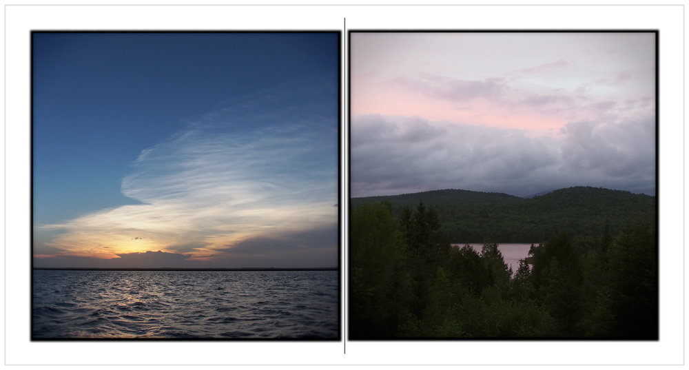 last night South Jersey Shore / first night Rist Camp   ~ Stone Harbor, NJ / Newcomb, NY - in the Adirondack PARK