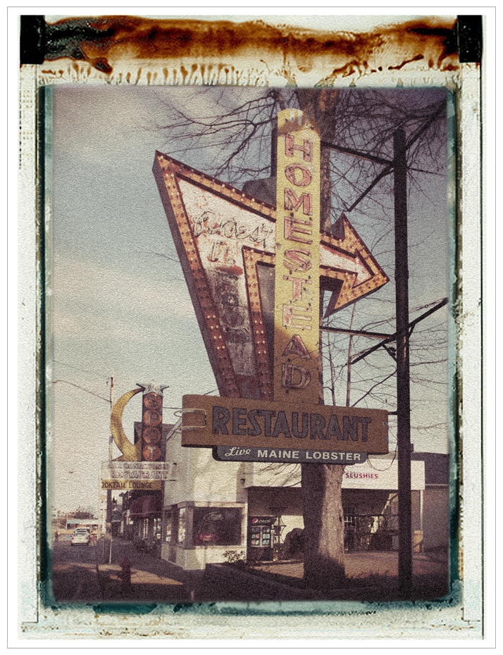 Homestead Restaurant / simulated Polaroid transfer ~ Alexandria Bay / 1000 Islands, NY (click to embiggen)