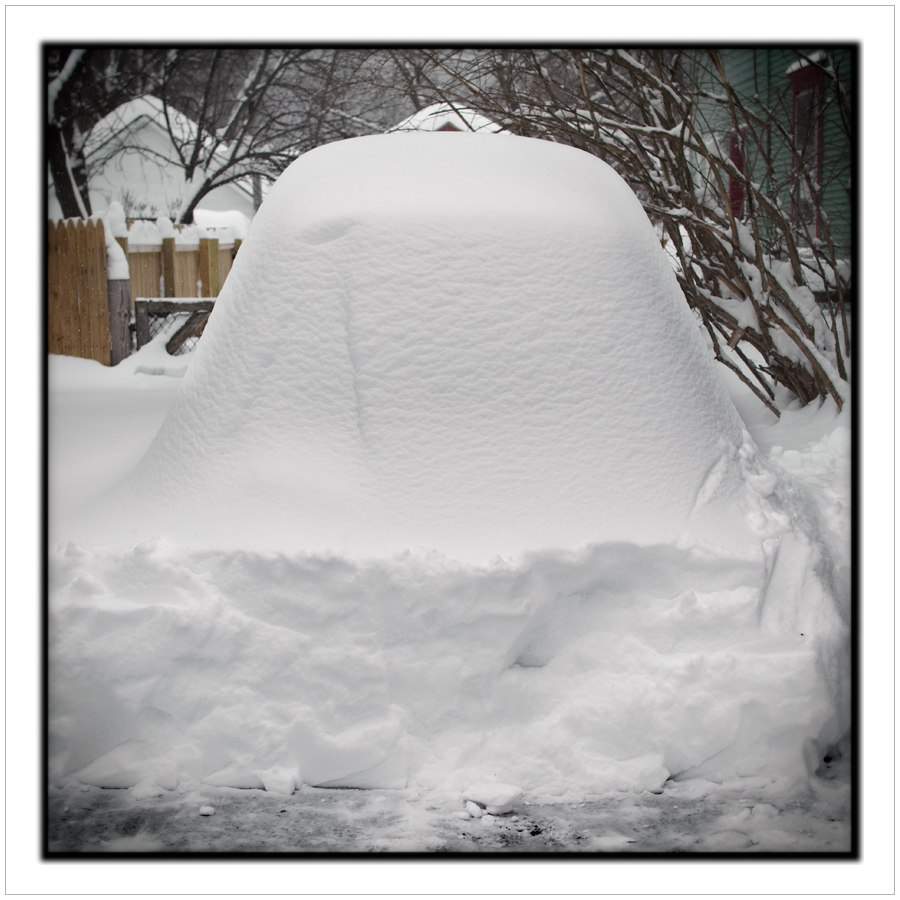 "my car under 30"" of snow ~ Au Sable Forks, NY - in the Adirondack PARK (embiggenable)"