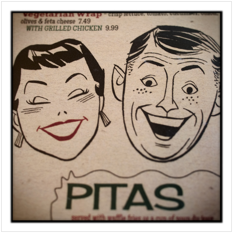 who doesn't love pitas ?  ~ Highland Park Diner menu - Rochester, NY (embiggenable)