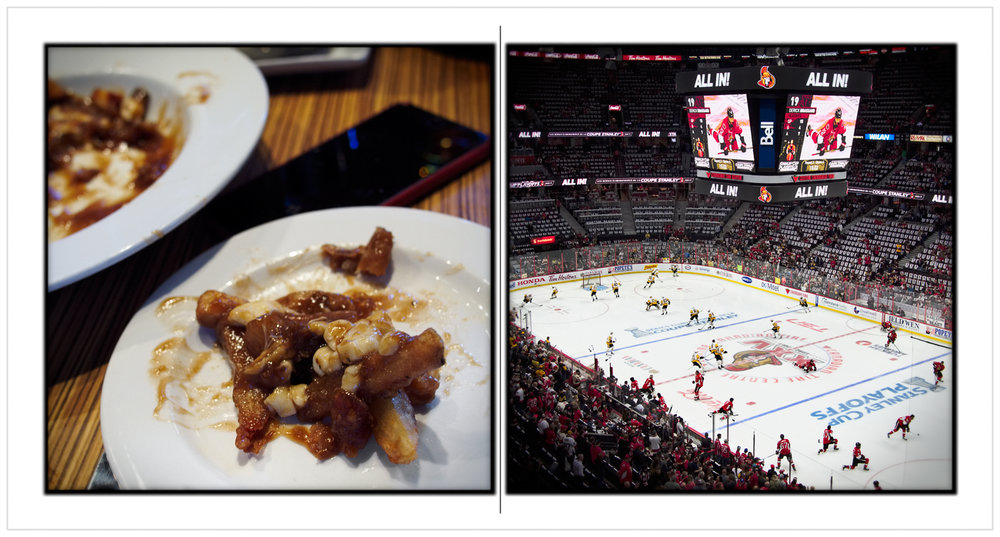 poutine / game warmups ~ Friday • at the rink / Ottawa, CAN CA (embiggenable)