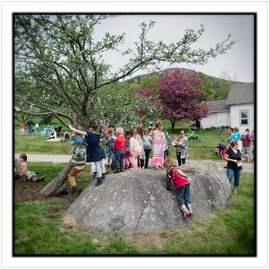 kids queue at the cow jumping fest   ~ Jay, NY (embiggenable)