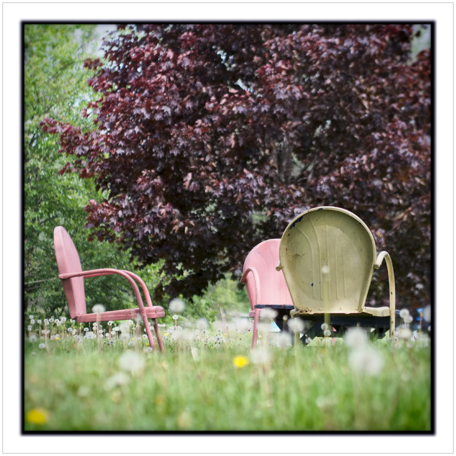lawn chairs   ~ Chaffey's Lock, ONT CA (embiggenable)