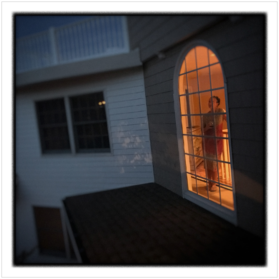 Erica in window   ~ Stone Harbor, NJ • iPhone camera module picture (embiggenable)
