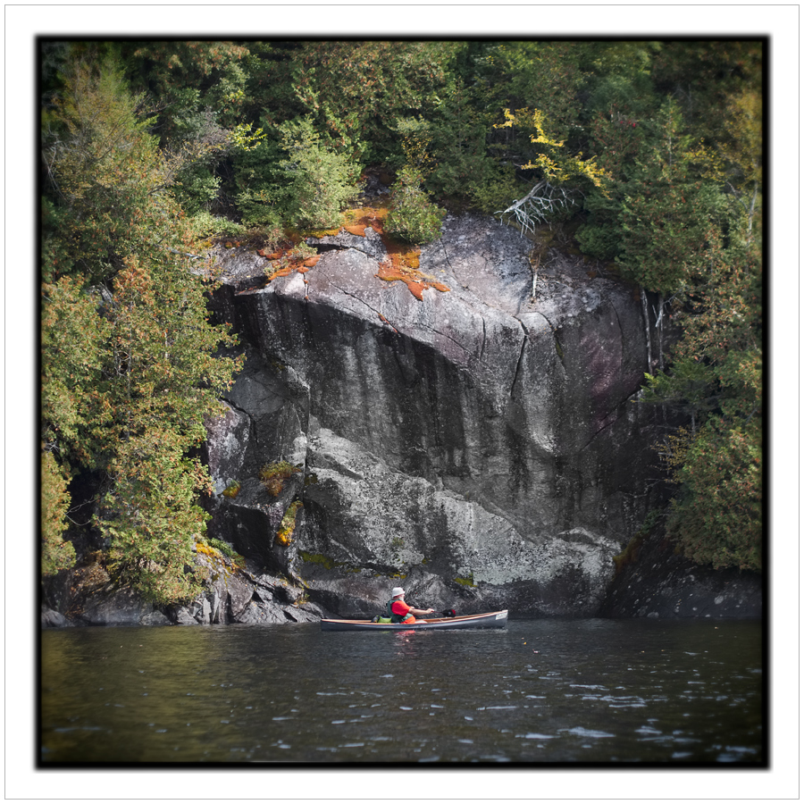rock face   /   Robert   ~ Henderson Lake - in the Adirondack PARK (embiggenable)