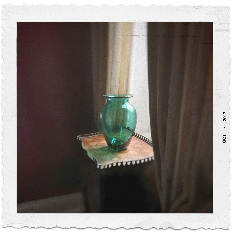 green vase   /   morning light   ~ East Village, NYC (embiggenable) iPhone