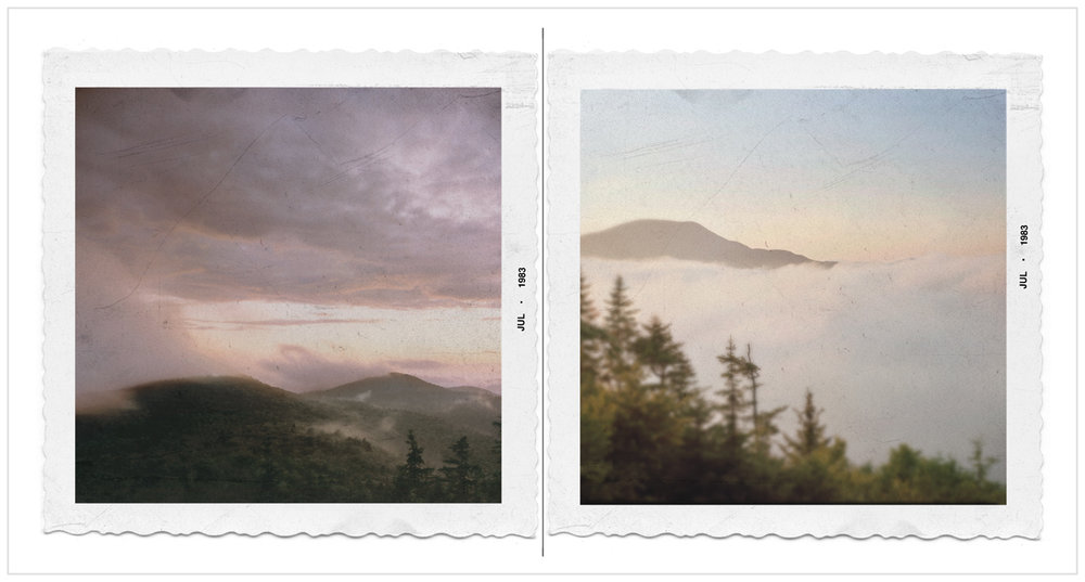 sunset   /   sunrise   ~ from Castle Rock - Blue Mountain Lake, NY (embiggenable) • 8x10 view camera