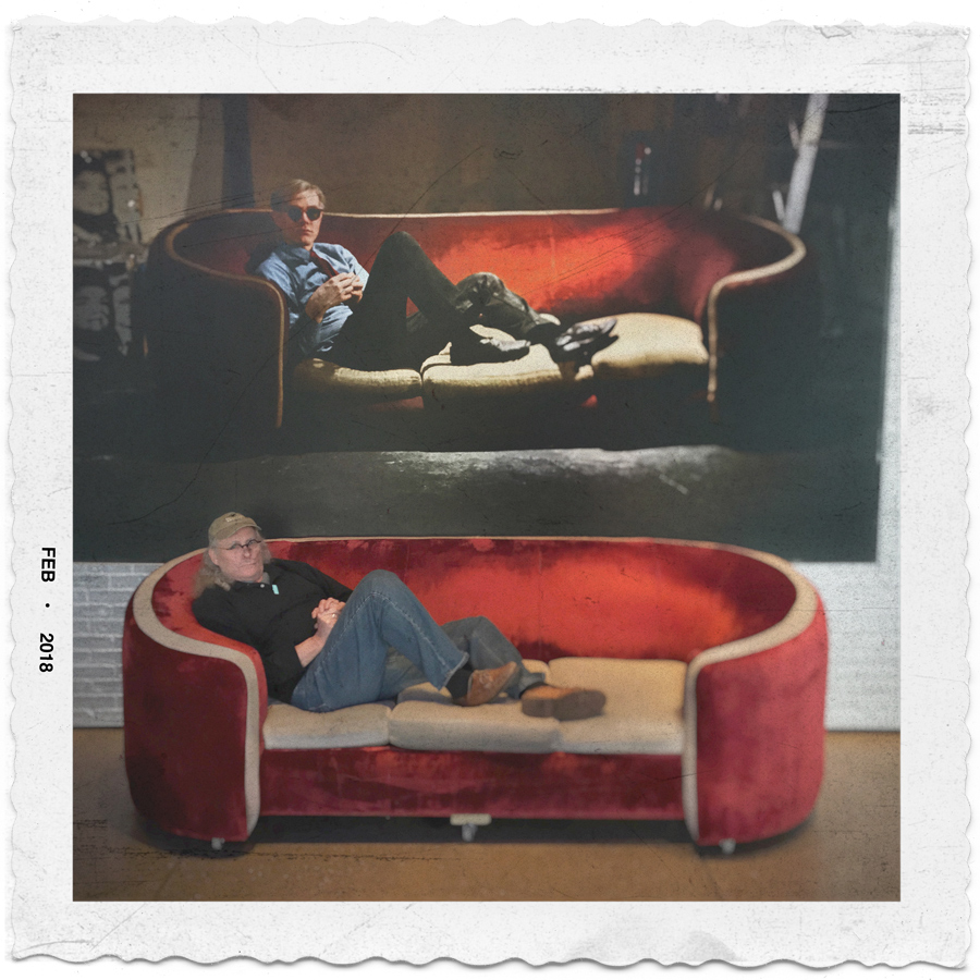 Andy and I sitting on the couch   ~ Warhol Museum / Pittsburgh, PA (embiggenable) • iPhone