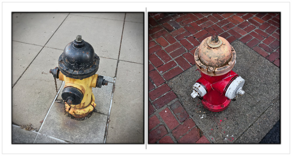 hydrants   ~ Pittsburgh, PA (embiggenable) • iPhone