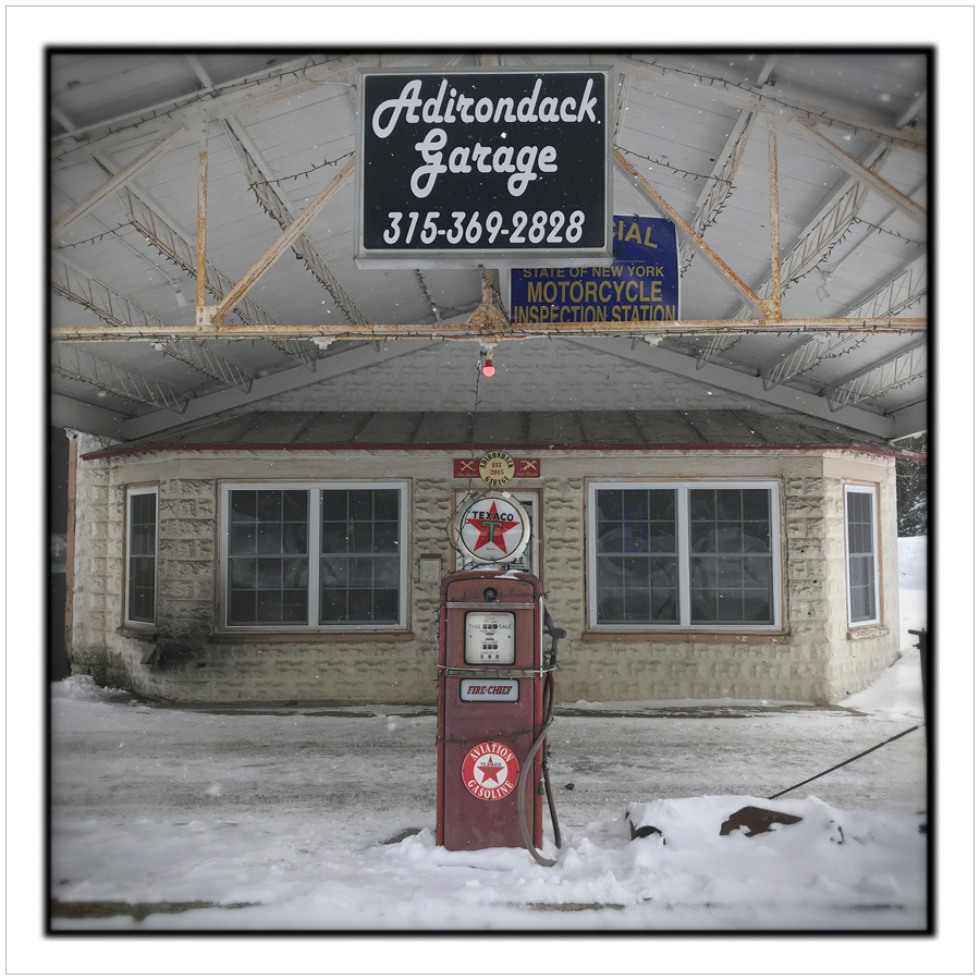 Adirondack Garage   ~ Old Forge, NY - in the Adirondack Park (embiggenable) • iPhone