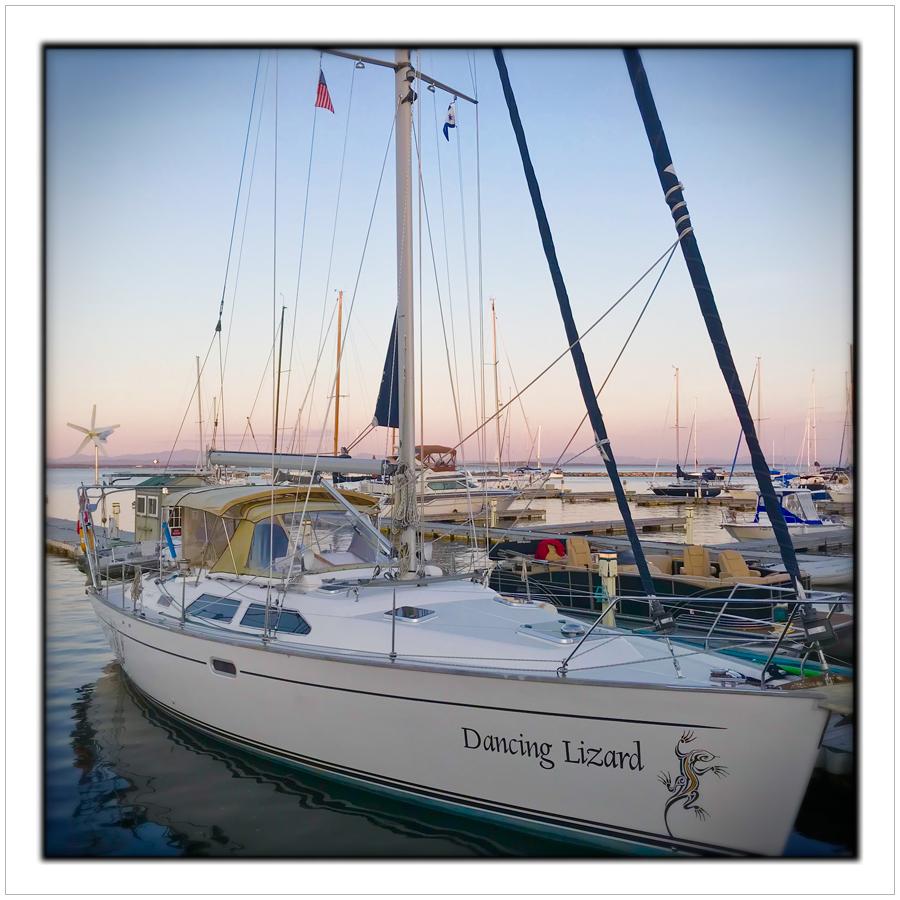 Lake Champlain marina   /   looking at Vermont   ~ embiggenable • iPhone