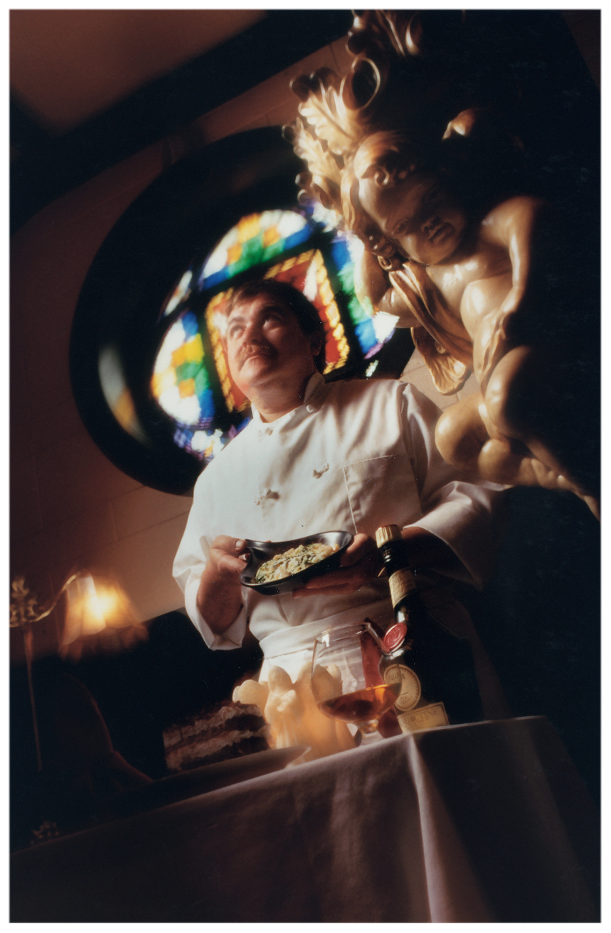 chef   ~ from a restaurant-in a former church- review assignment