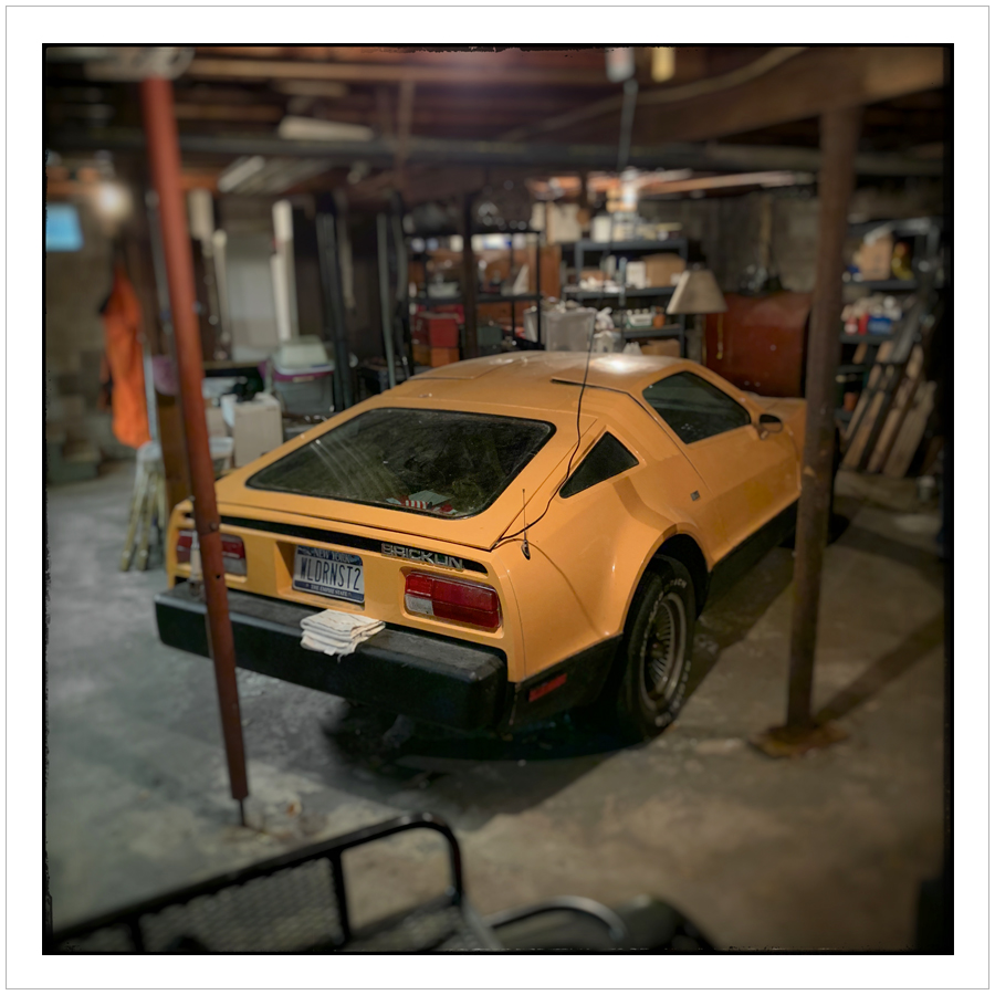 Bricklin in a basement   ~ (embiggenable) • iPhone