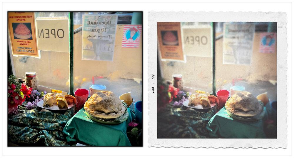 bakery window   ~ Middlebury, VT (embiggenable) • iPhone