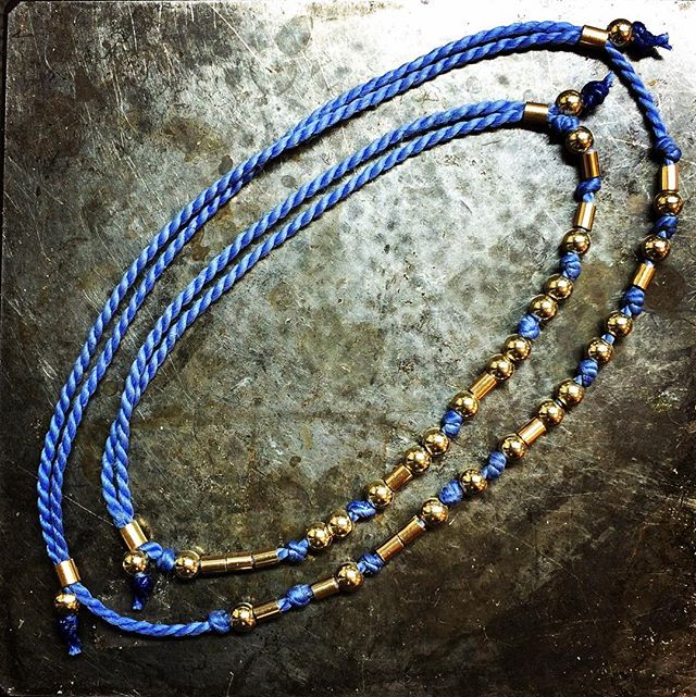 Mother daughter morse code bracelets. 14k gold and silk. #casslilienjewelry #jewelryoftheday #jewelrygram #atlasonic #babyjewelry