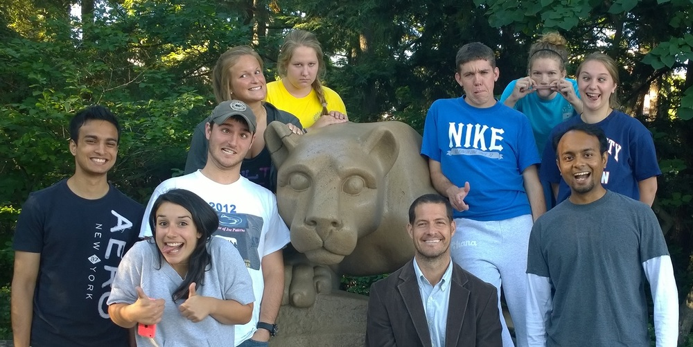 Hillary Lab Fall 2014 - showing our goofy side!
