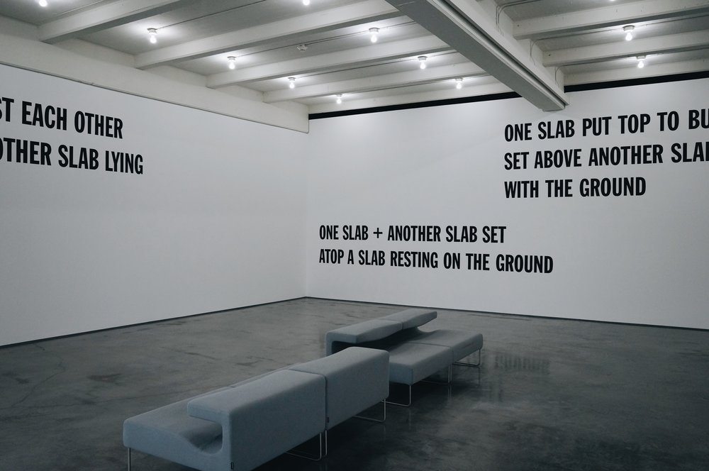 Lawrence Weiner, 5 Figures of Structure