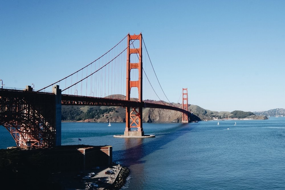 The iconic Golden Gate Bridge