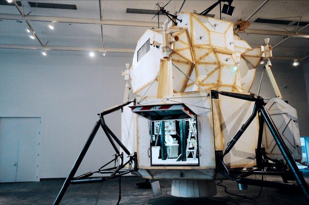 Landing Excursion Module (LEM), a 1:1 model of the Apollo lunar module