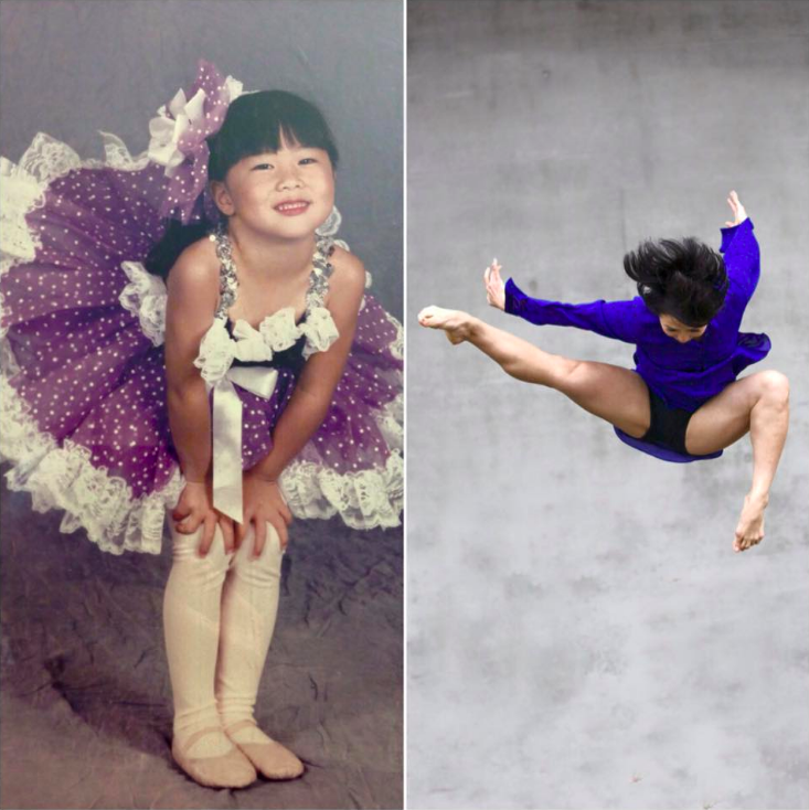 Photo of Julie Ann Minaai as a young ballerina and modern dancer.