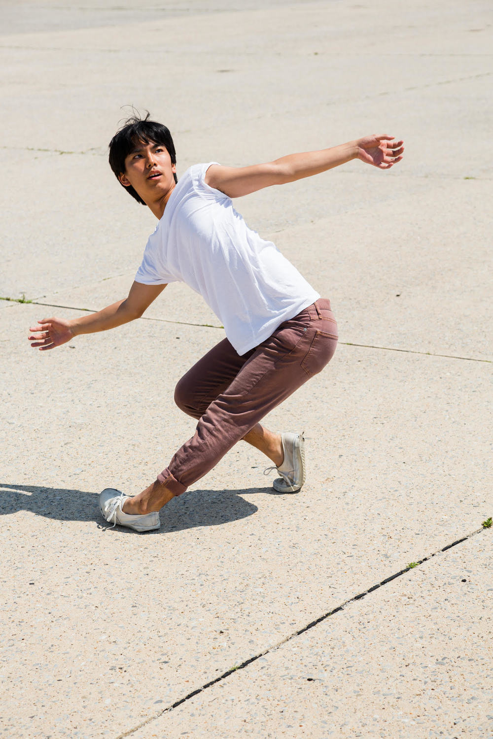 Photo of Ryan Yamauchi dancing.