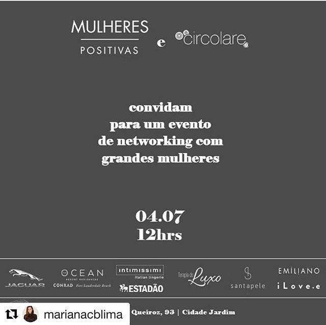 #Repost @marianacblima with @get_repost ・・・ Estou em São Paulo e muito feliz de ter sido convidada para esse evento tão bacana! Mulheres positivas do Estadão by @sofiapatsch @fabisaad tks @circolare @juliem10 - Super Happy to be in São Paulo for such an amazing event!!