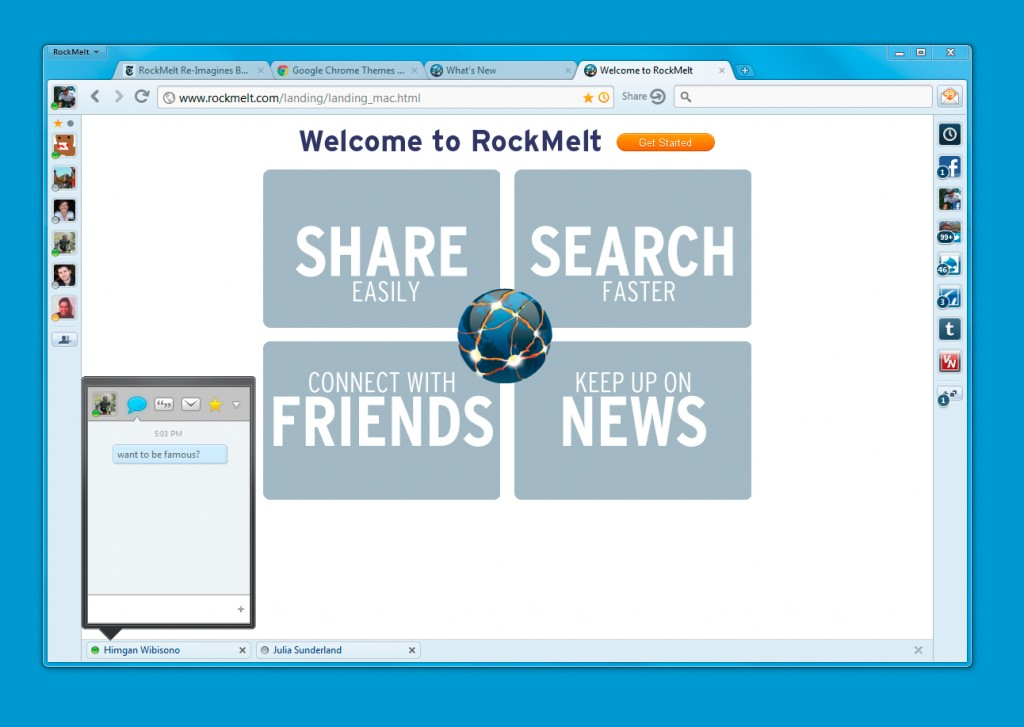 Rockmelt Screenshot